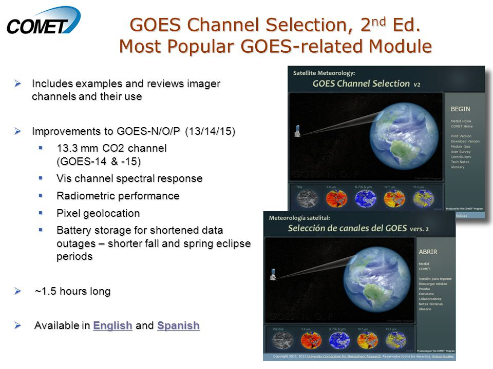 GOES Channel Selection, 2 nd Ed.
