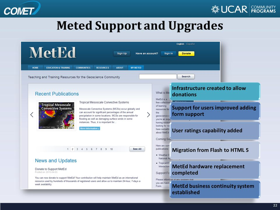 Meted Support and Upgrades 22