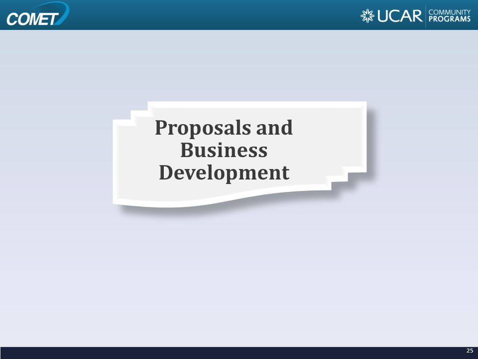 25 Proposals and Business Development