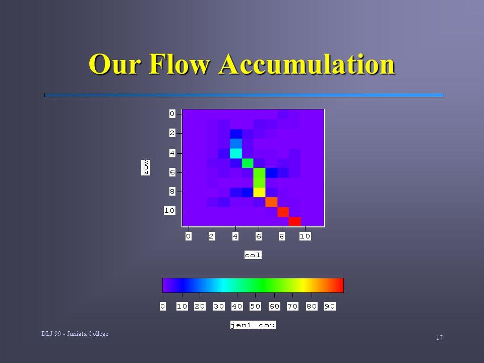 DLJ 99 - Juniata College 17 Our Flow Accumulation