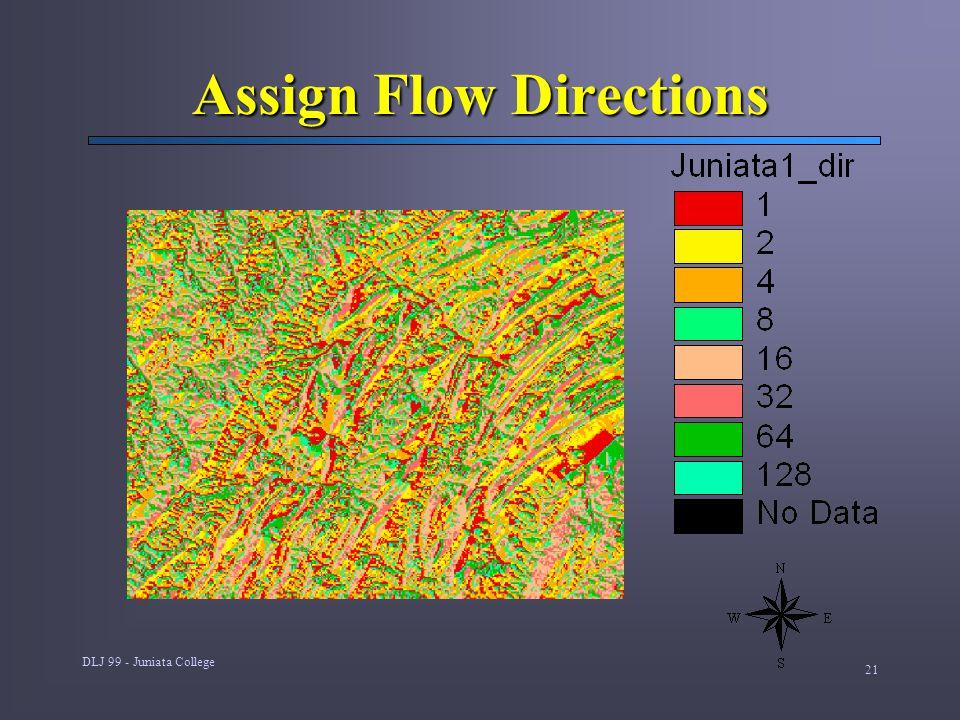 DLJ 99 - Juniata College 21 Assign Flow Directions