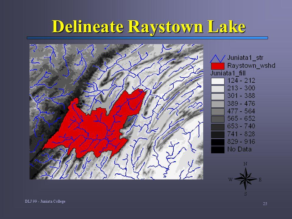 DLJ 99 - Juniata College 25 Delineate Raystown Lake
