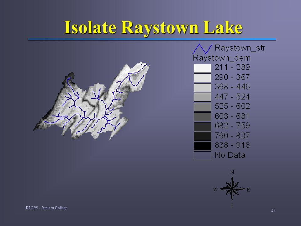 DLJ 99 - Juniata College 27 Isolate Raystown Lake