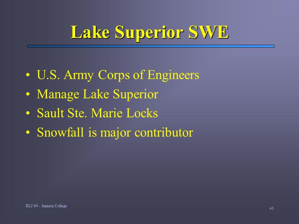 DLJ 99 - Juniata College 40 Lake Superior SWE U.S.