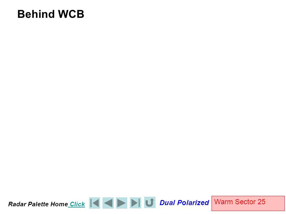 Radar Palette Home Click Dual Polarized Warm Sector 25 Behind WCB