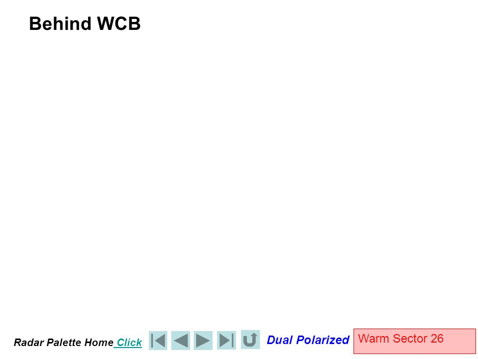 Radar Palette Home Click Dual Polarized Warm Sector 26 Behind WCB