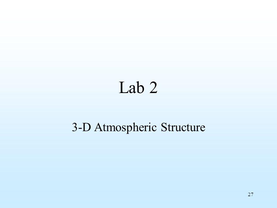 27 Lab 2 3-D Atmospheric Structure