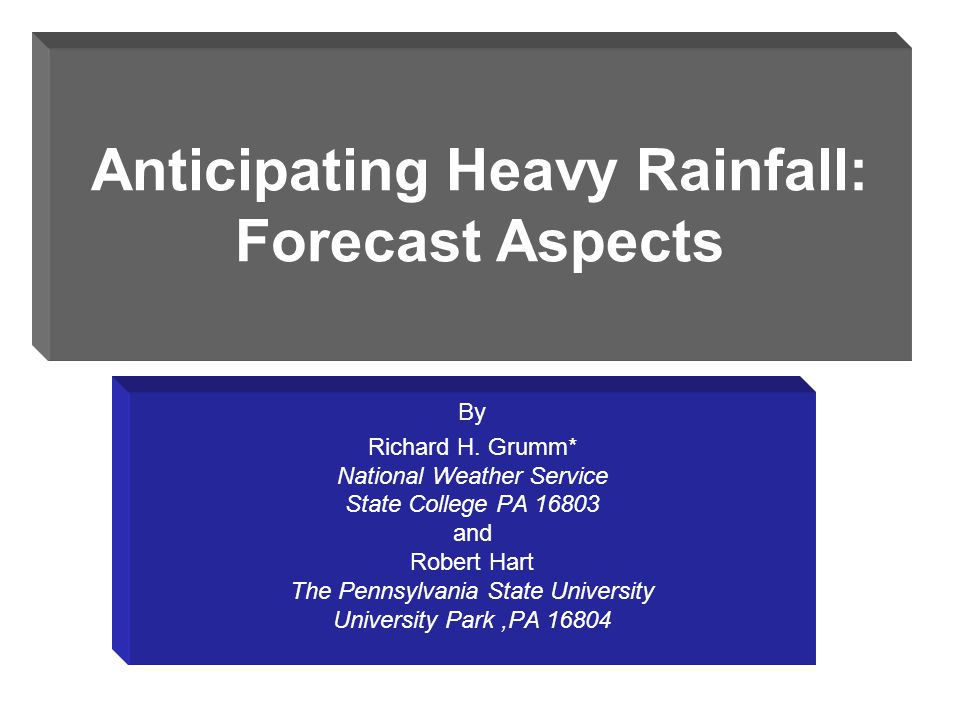 Introduction Data and visualization methods to facilitate identifying heavy rainfall events Climatological aspects –historical events –event typing –statistical analsis Forecast aspects –apply parameters to model forecasts –apply parameters to ensemble consensus