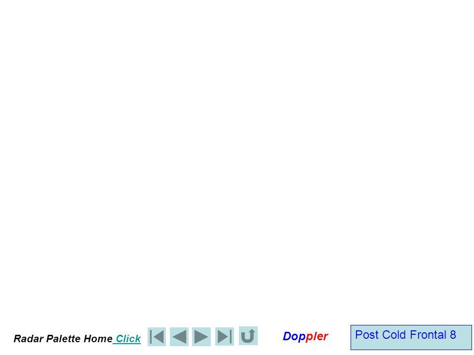 Radar Palette Home Click Doppler Inactive or Katabatic Cold Front