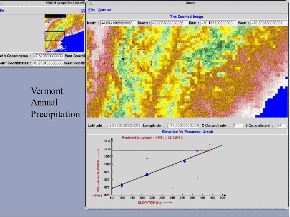 Vermont Annual Precipitation