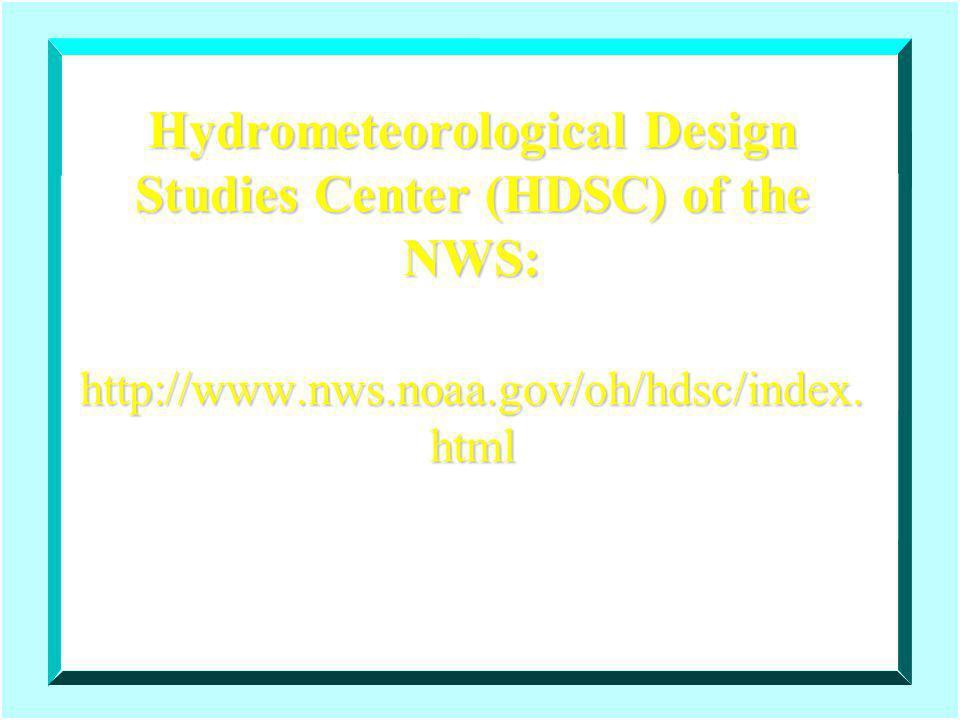 Hydrometeorological Design Studies Center (HDSC) of the NWS: http://www.nws.noaa.gov/oh/hdsc/index.