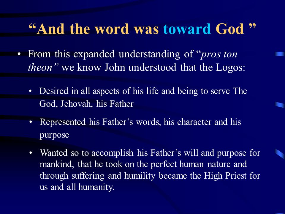 And the word was God Colwell's Rule What does this rule say.