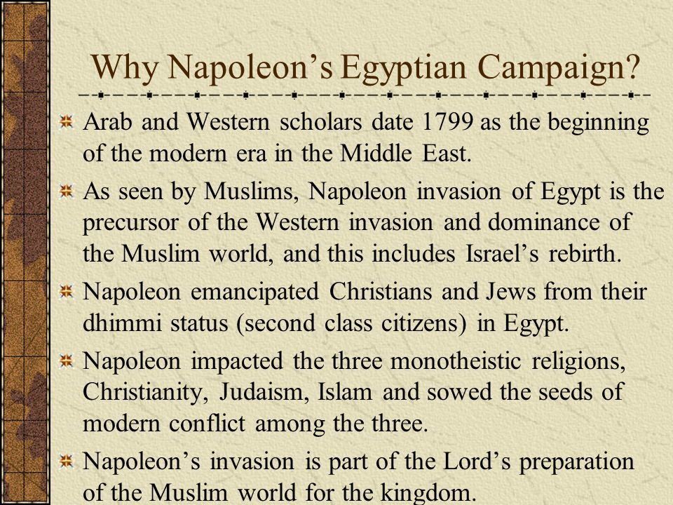 Why Napoleon's Egyptian Campaign.