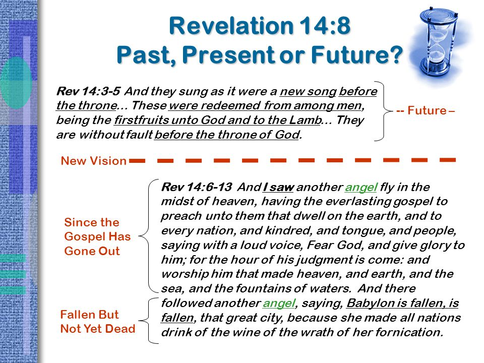 Revelation 14:8 Past, Present or Future.