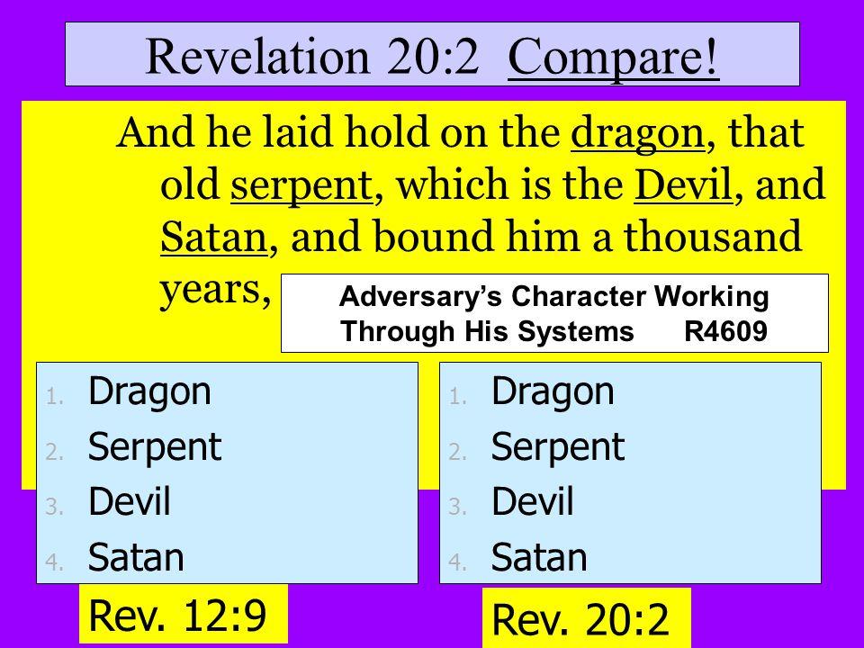 Revelation 20:2 Compare.