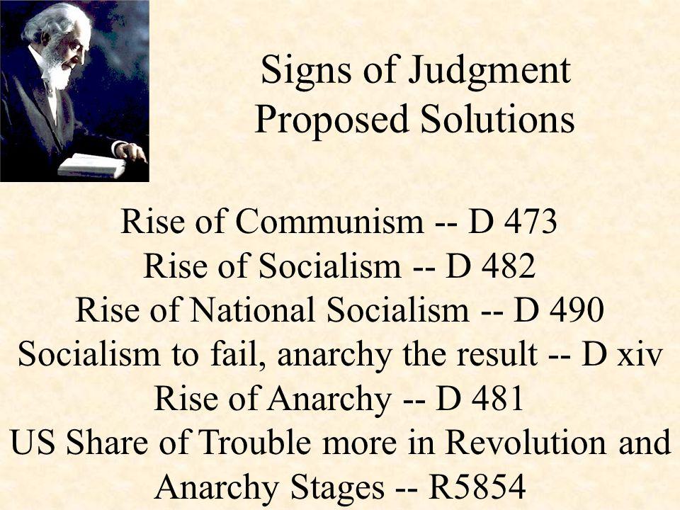 Rise of Communism -- D 473 Rise of Socialism -- D 482 Rise of National Socialism -- D 490 Socialism to fail, anarchy the result -- D xiv Rise of Anarc