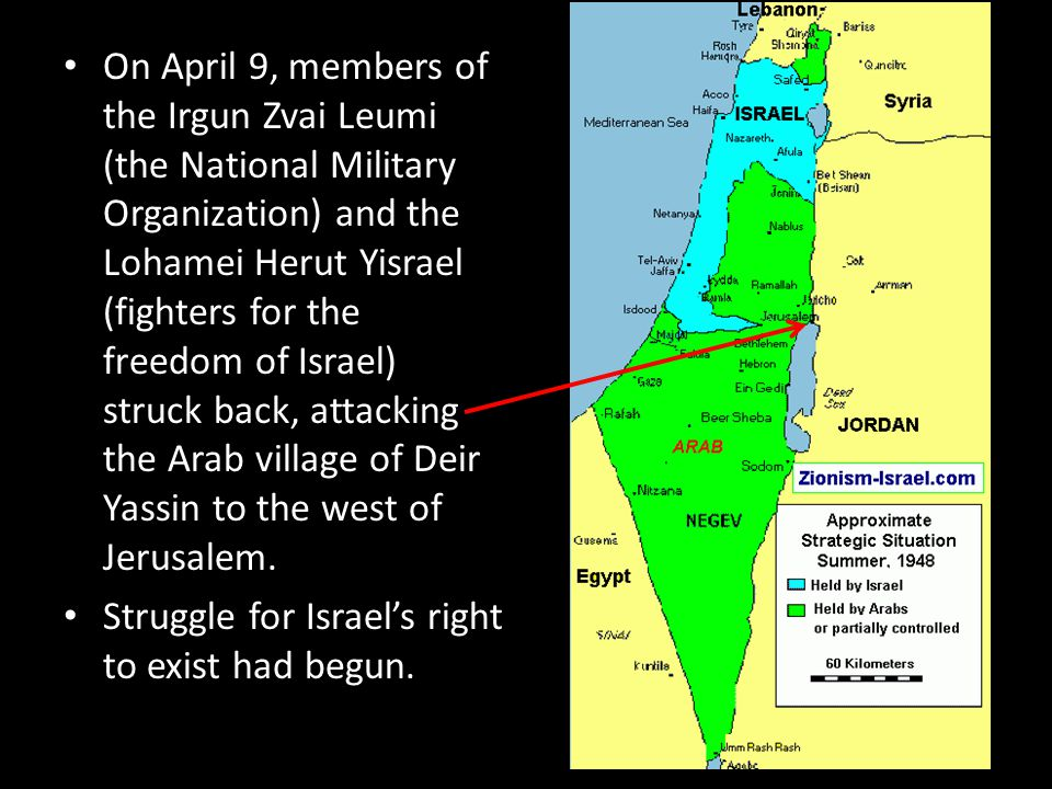On April 9, members of the Irgun Zvai Leumi (the National Military Organization) and the Lohamei Herut Yisrael (fighters for the freedom of Israel) st