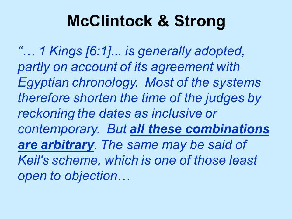 McClintock & Strong … 1 Kings [6:1]...