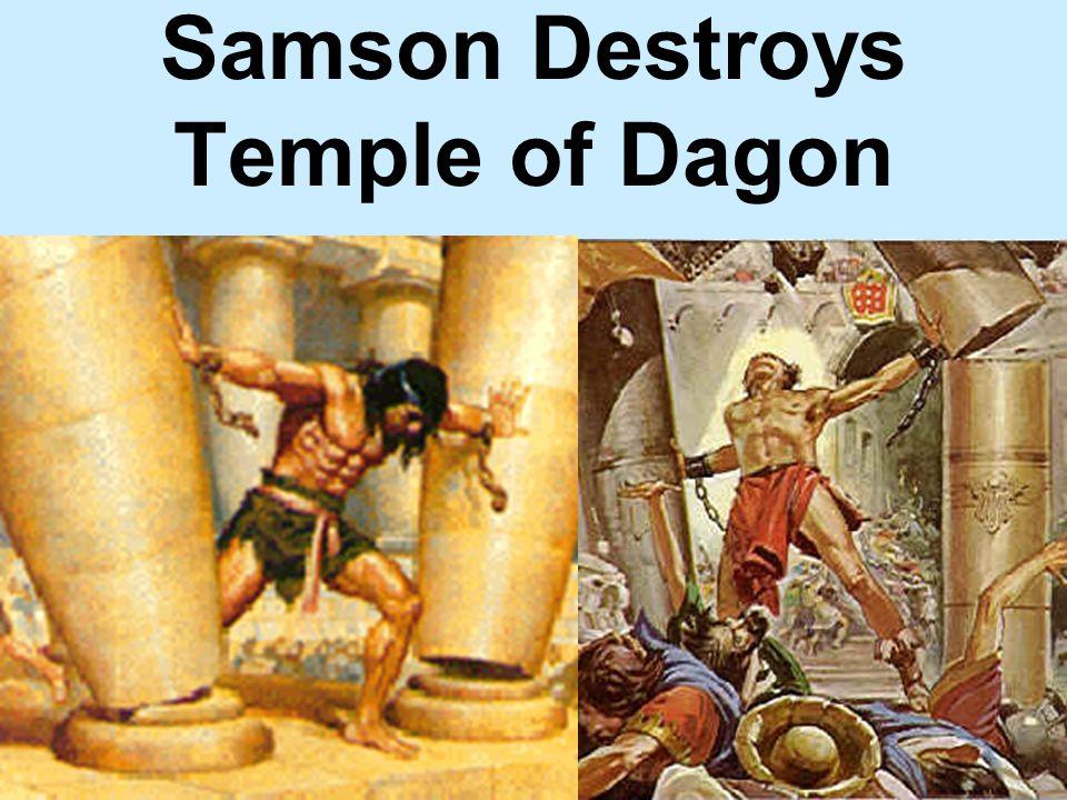 Samson Destroys Temple of Dagon