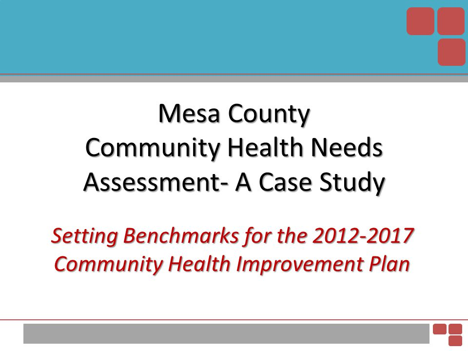 6 Priorities to 3 Winnables Steering Committee Priorities Mental Health Family Abuse and Violence Maternal and Child Health Obesity Tobacco Use Screening and Early Detection Mesa County Winnable Battles Unintended Pregnancy Obesity Suicide