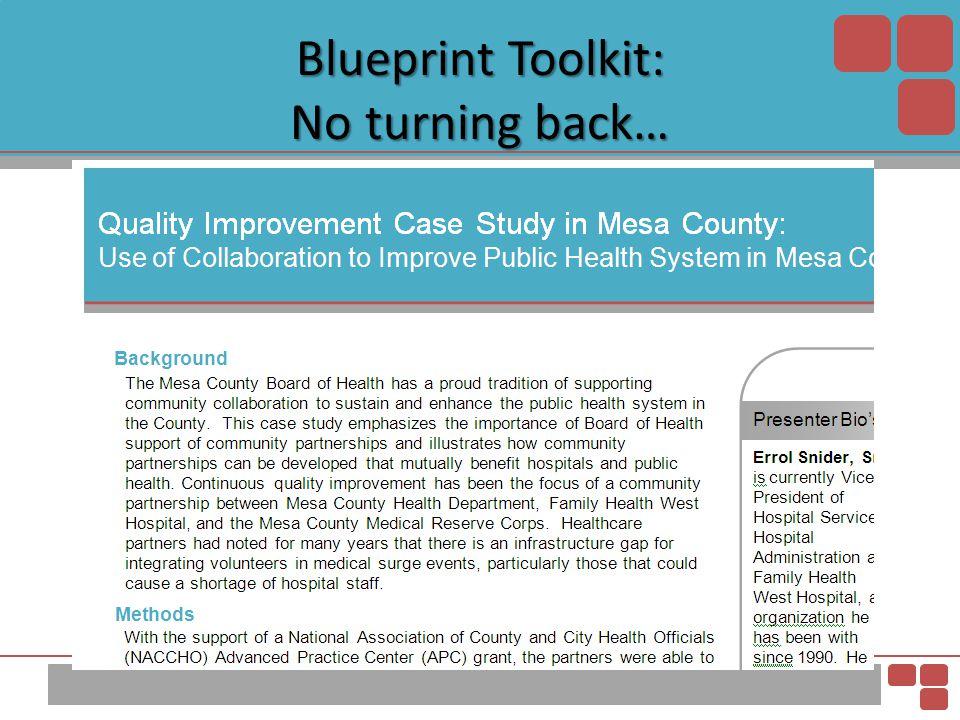 Blueprint Toolkit: No turning back…