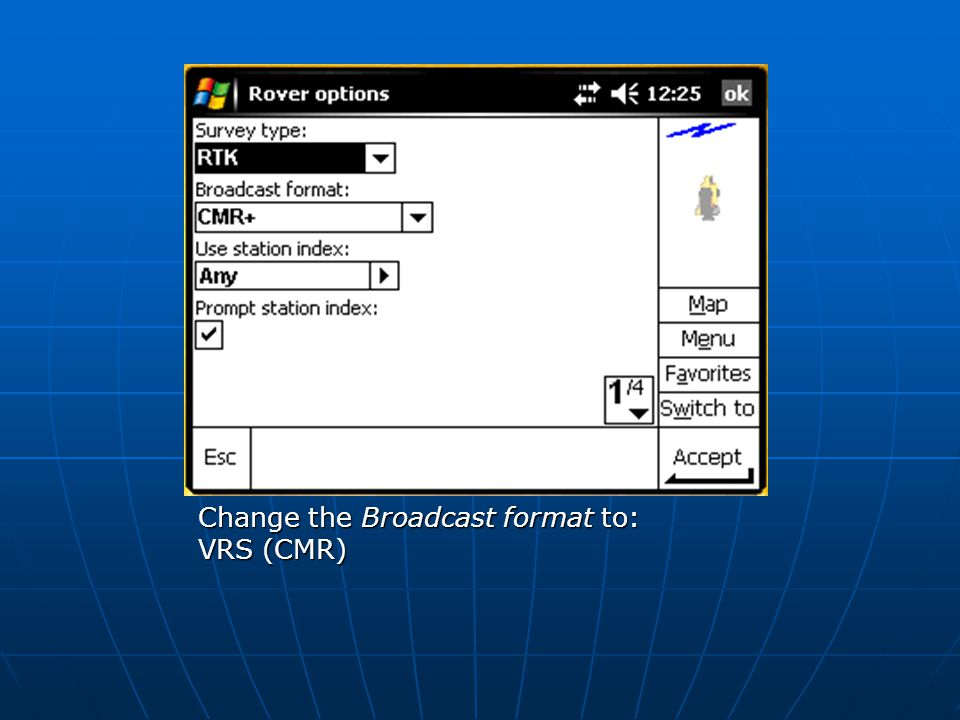 Change the Broadcast format to: VRS (CMR)