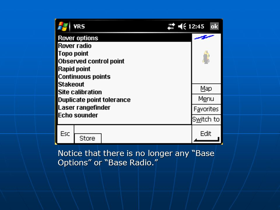 "Notice that there is no longer any ""Base Options"" or ""Base Radio."""