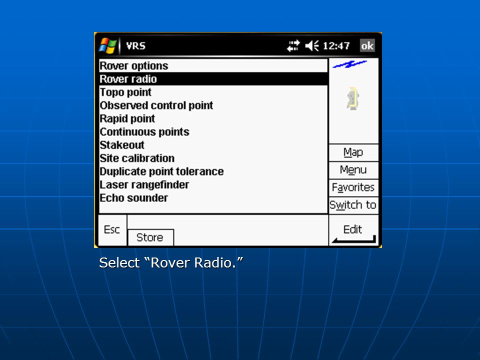 Select Rover Radio.