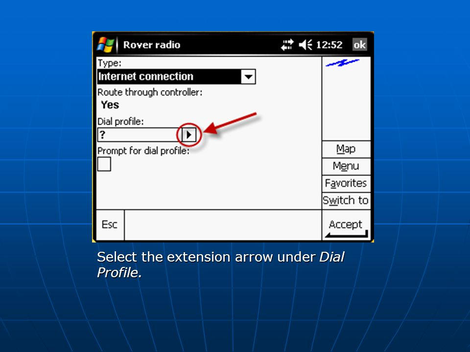 Select the extension arrow under Dial Profile.