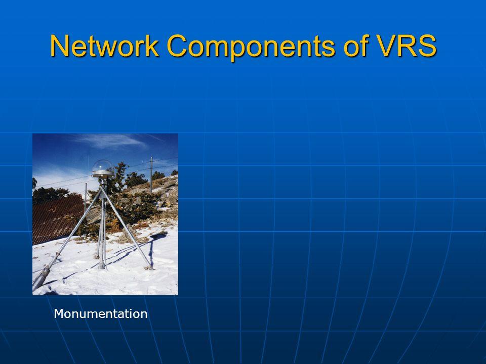 Network Components of VRS Monumentation