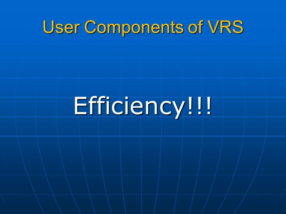 Efficiency!!!