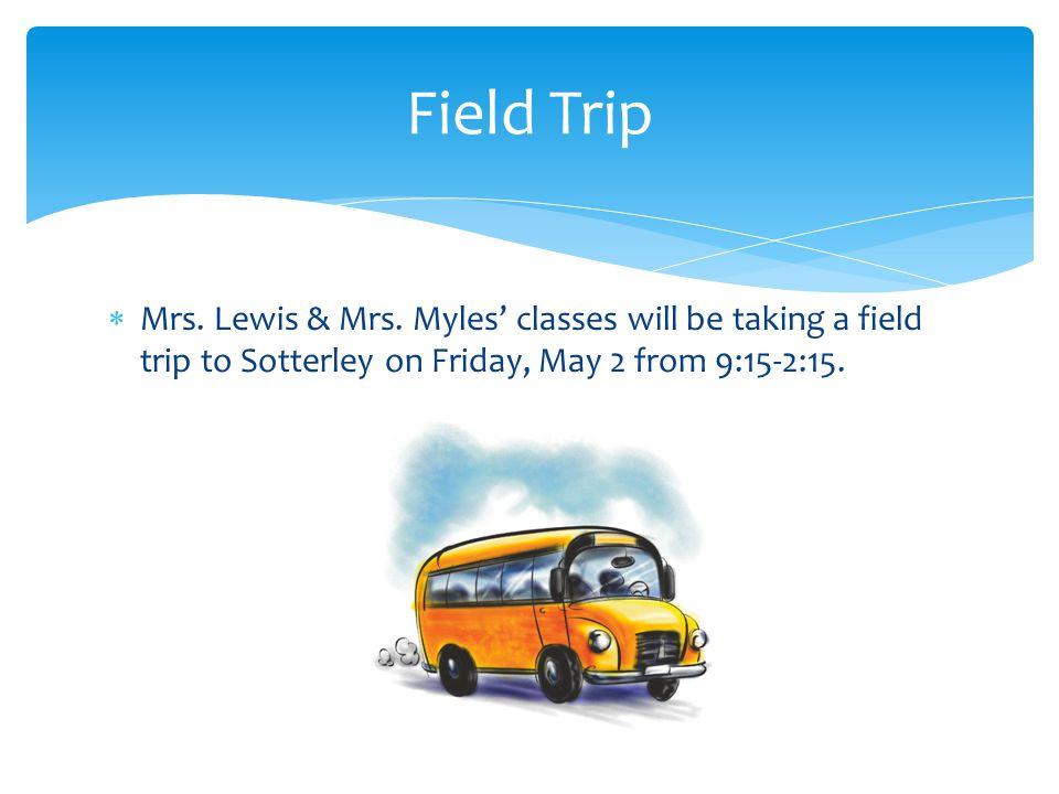  Mrs. Lewis & Mrs.
