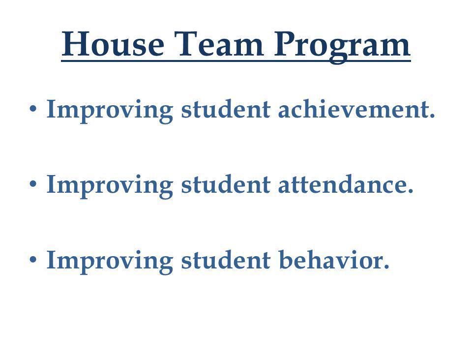 Improving student achievement. Improving student attendance. Improving student behavior.
