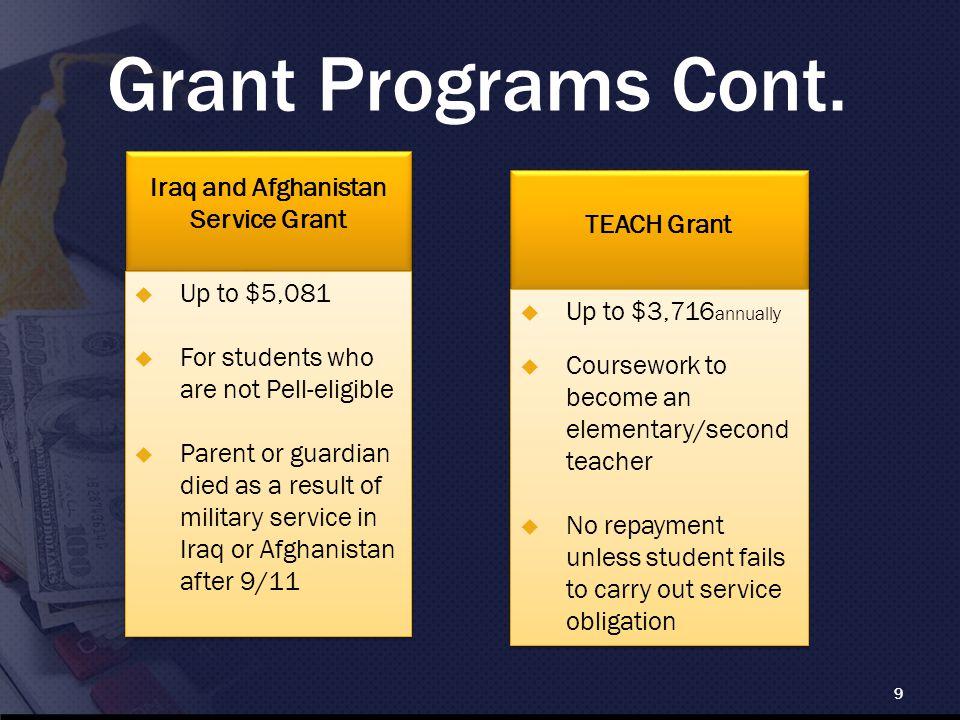 Grant Programs Cont.
