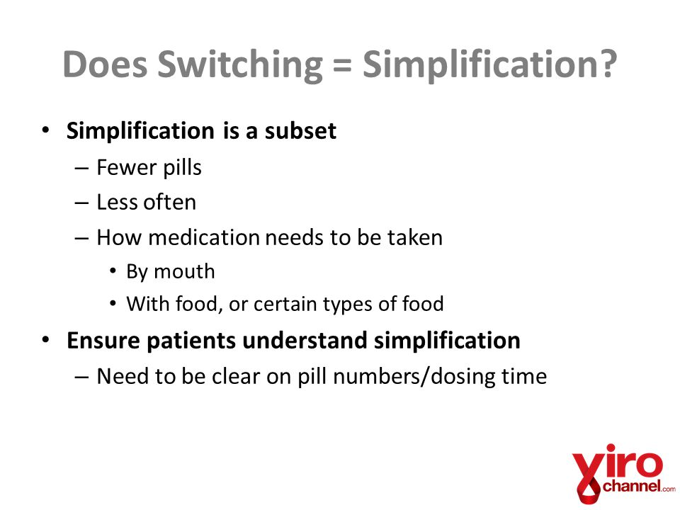 Does Switching = Simplification.