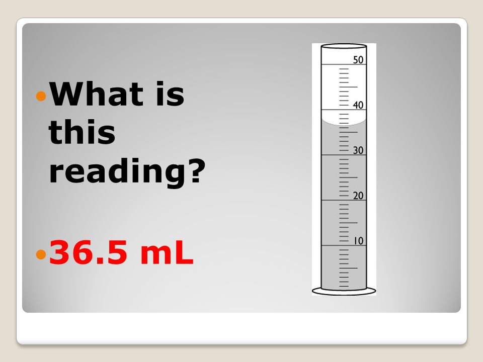 What is this reading? 36.5 mL