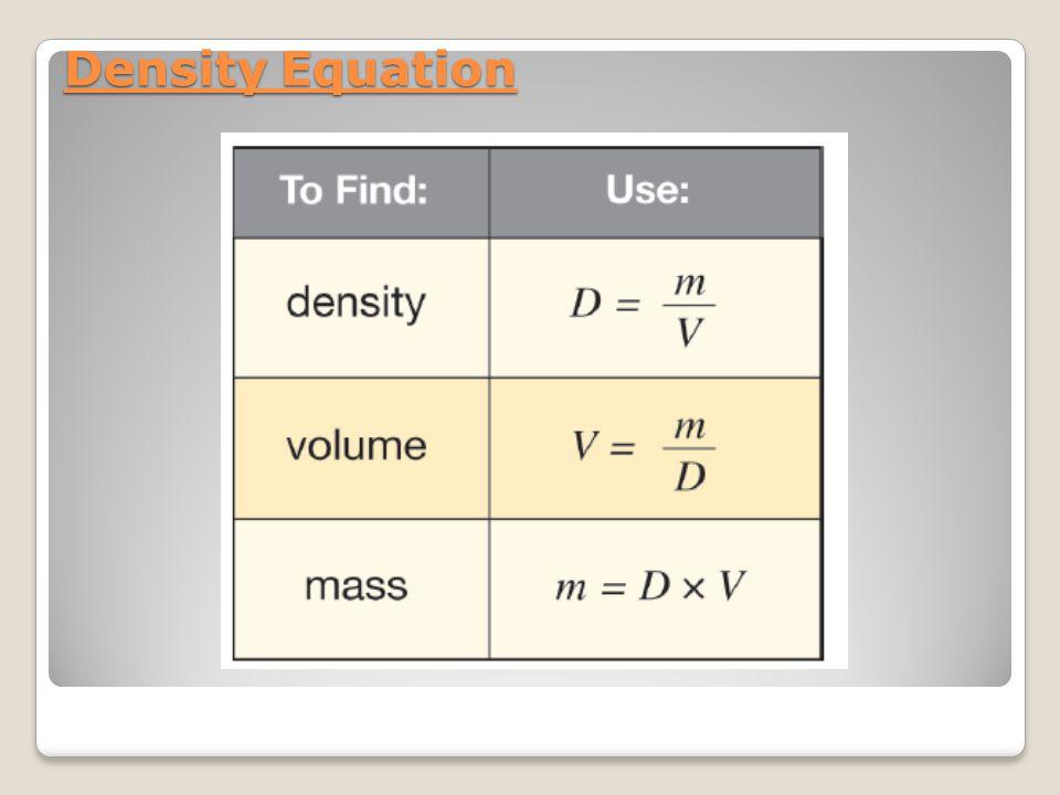 Density Equation