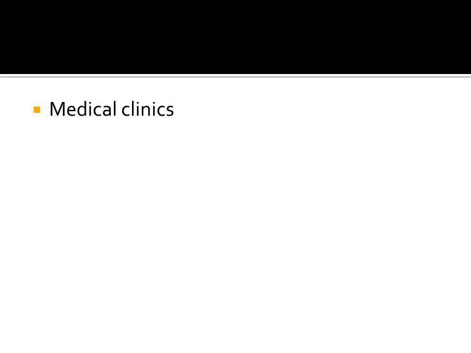  Medical clinics