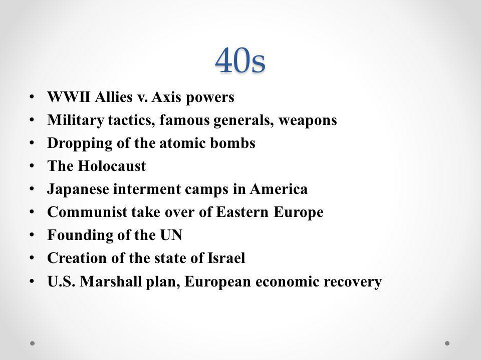40s WWII Allies v.