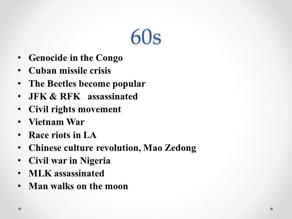 70s U.S.invasion of Laos, Cambodia Watergate The Munich Olympic massacre U.S.