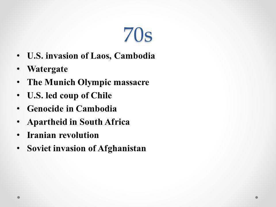 80s Iran v.Iraq war Fall of communism in Eastern Europe, Russia U.S.