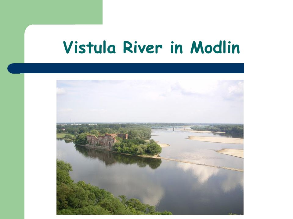 Vistula River in Modlin