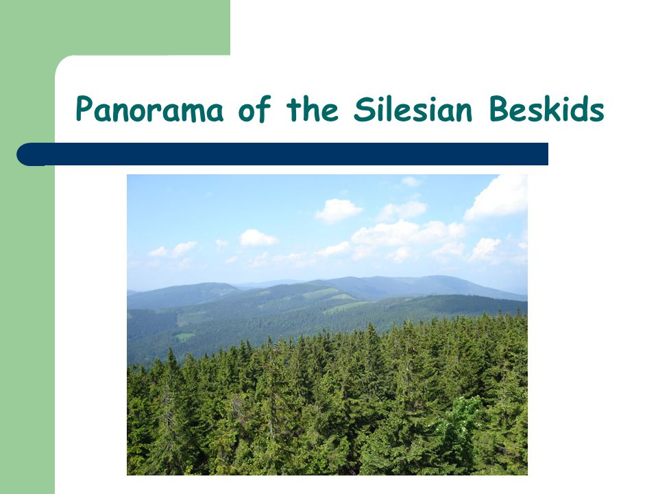 Panorama of the Silesian Beskids