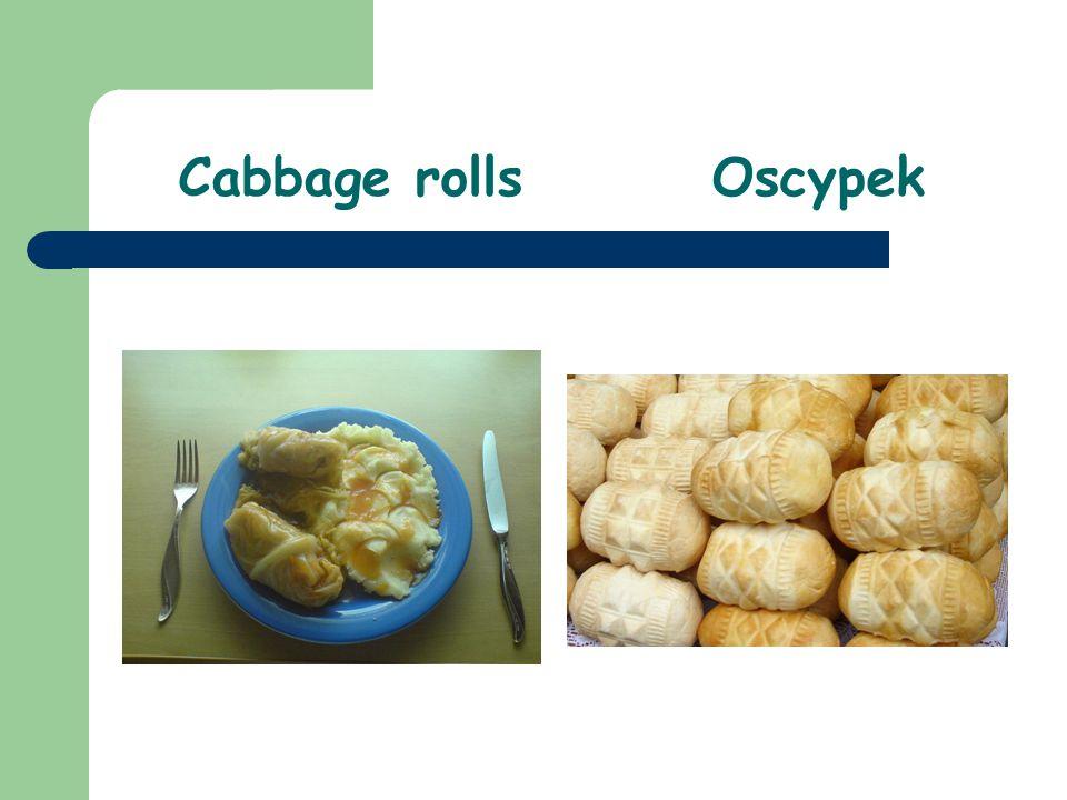 Cabbage rollsOscypek