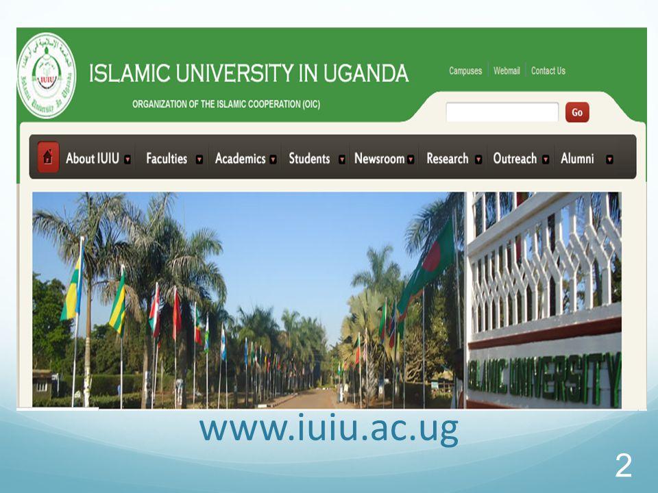 2 www.iuiu.ac.ug