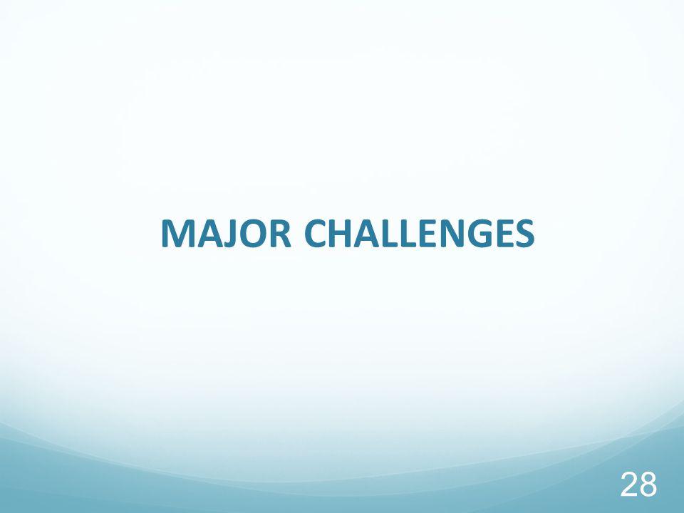 MAJOR CHALLENGES 28