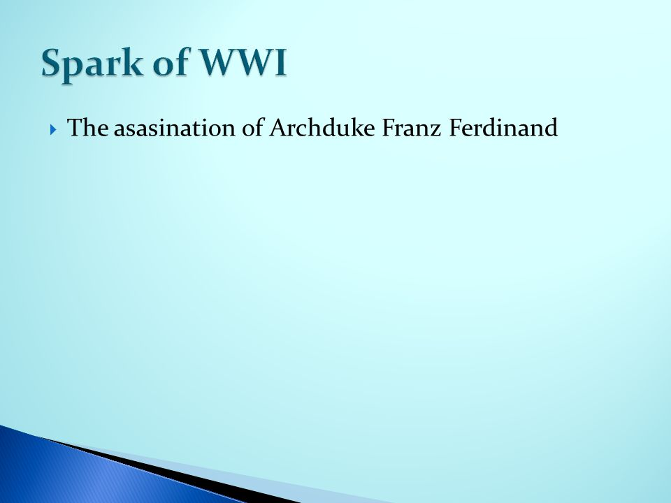 The asasination of Archduke Franz Ferdinand