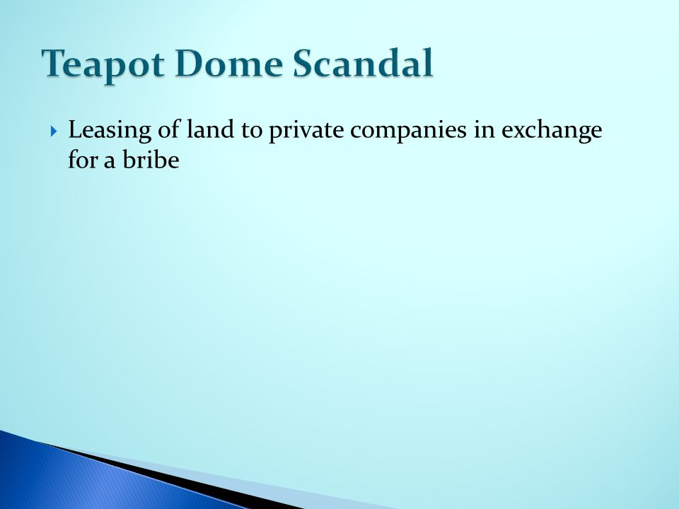  Leasing of land to private companies in exchange for a bribe