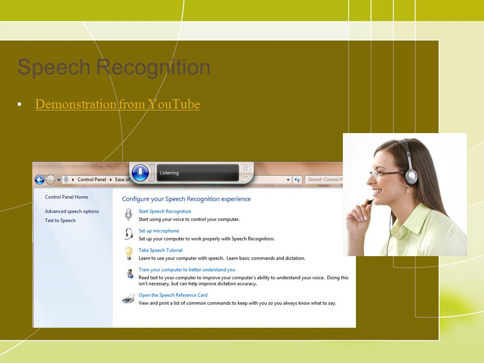 Speech Recognition Demonstration from YouTube