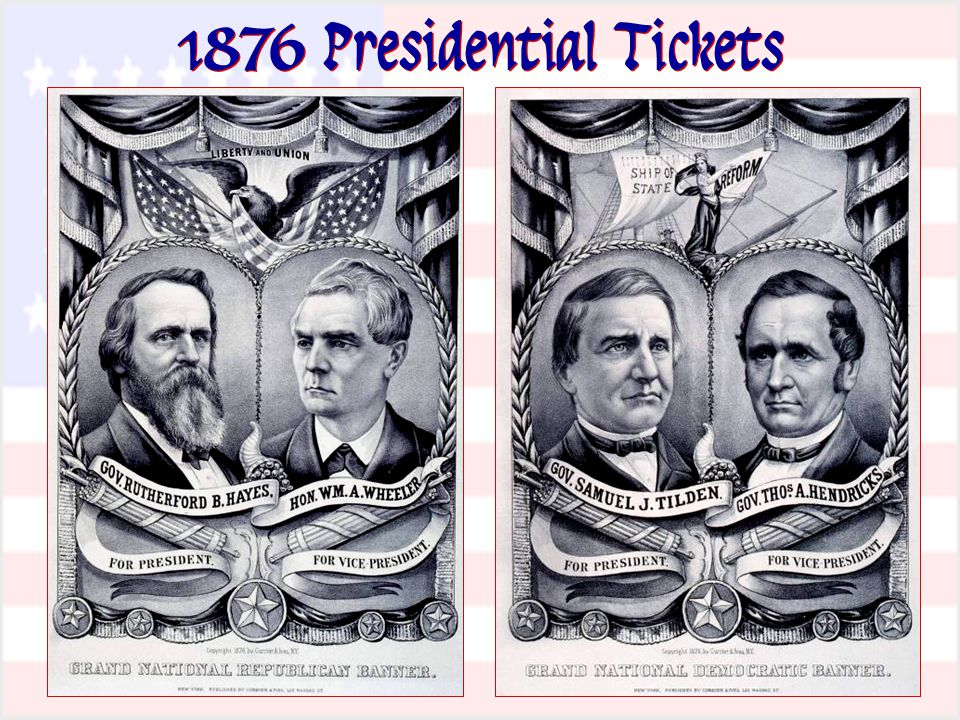1876 Presidential Tickets